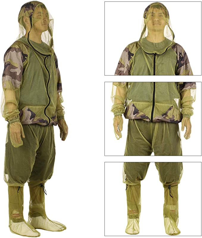 Anti Mosquito Suit Set Fishing Outdoor Trousers Jacket Protective Bug