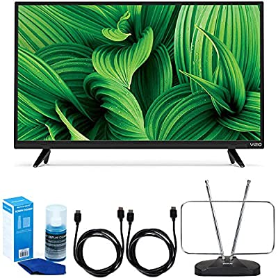 "Vizio D-Series D32hn-E1 32"" Class Full-Array LED TV w/ FM Antenna Accessory Bundle includes TV, 2 6ft Haigh Speed HDMI Cables, Universal Screen Cleaner and Durable HDTV and FM Antenna"