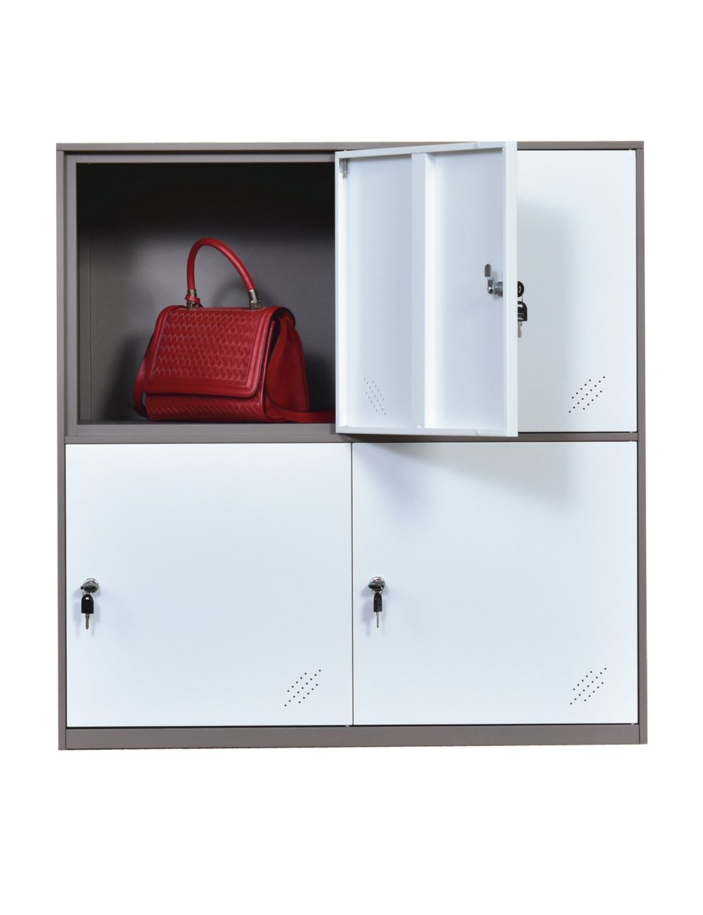 Metal 9 Door Cabinet Locker with Key Lock Using for Shool Office and Kids Room (4D) by MECOLOR