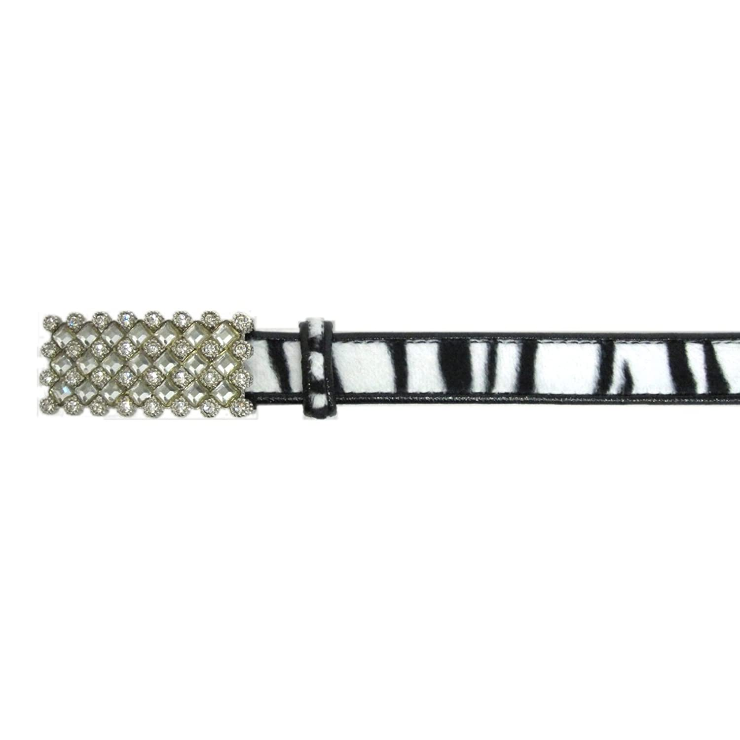 "1"" Women's Fashion Rectangular Clear Crystal Embellished Buckle on Quality"
