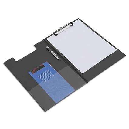 Rapesco VFDCB0B3 Klemmbrettmappe mit Folientasche DIN A4 1 per Packung Schwarz
