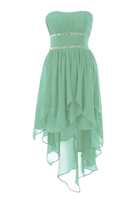 YiYaDawn Asymmetrische Ballkleid Abendkleid Vokuhila Kleid für Damen ...