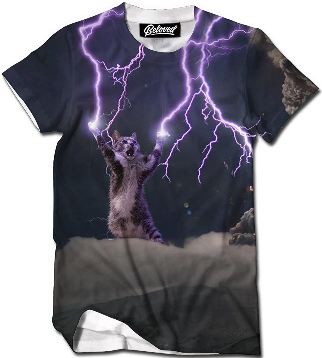 10196ea4b79 Beloved Shirts Lightning Cat T-Shirt - Premium All Over Print Graphic Tees
