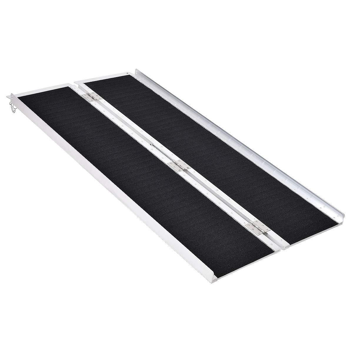 Goplus® Multi-Fold Aluminum 5' Non-Skid Wheelchair Ramp Mobility Scooter Mobility Ramp (5' x 30) by Goplus