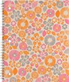 Mead Pretty Please Notebook, 10-1/2 x 8-Inches, 1-Subject, 80CT, CR, Small Flowers (72006)