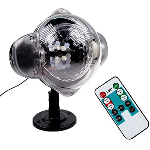 LMDH LED de luz del proyector, luz de la Navidad de la nieve ...