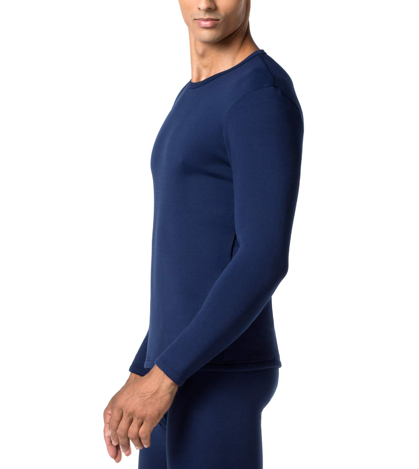 LAPASA Men's Heavyweight Thermal Underwear Top Fleece Lined Base Layer Long Sleeve Shirt M26 Navy,S Chest 35''-37'' Sleeve 22'' by LAPASA
