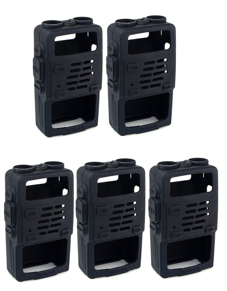 Retevis 2 Way Radio Case Holster Holster Pouch Protection Compatible Baofeng UV-5R UV-5RV RT-5R RT-5RV WalkIe Talkies (5 Pack)