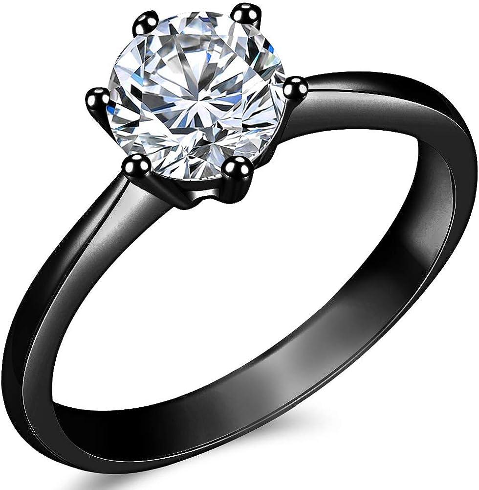 TT 9K Rose GP 3mm Dazzling S.Steel Eternity CZ Wedding Band Ring Size 7-13 R116Z