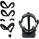 AMVR Facial Interface Bracket & PU Leather Foam Face Cover Pad Replacement & Anti-Leakage Nose Pad & Protective Lens Cover Co