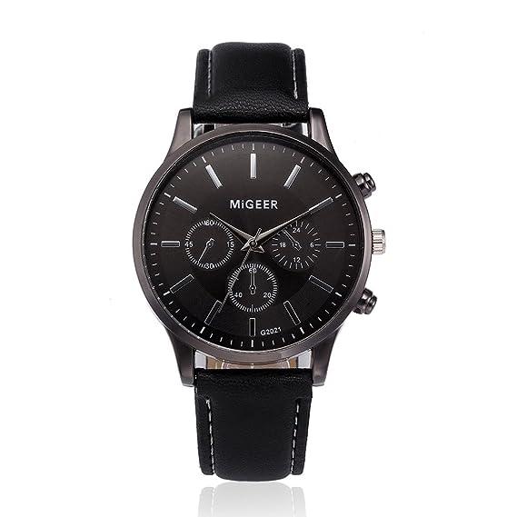 Suitray Uhren Herrenluxus Retro Design Männer Leder Armbanduhr Men Geschäft Analoge Quarzuhr Uhr Geschenkrunde Zifferblattgehäuse Lederband Uhren