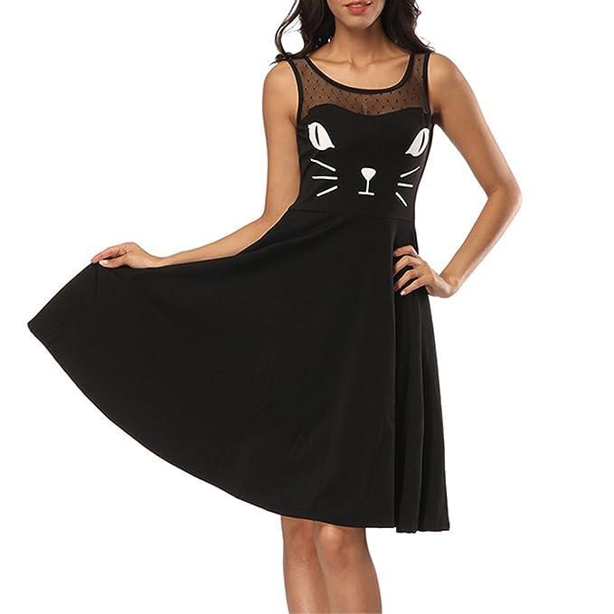 Slyar Vestido Mujer Casual Tallas Grandes Verano Vestido Estampado ...