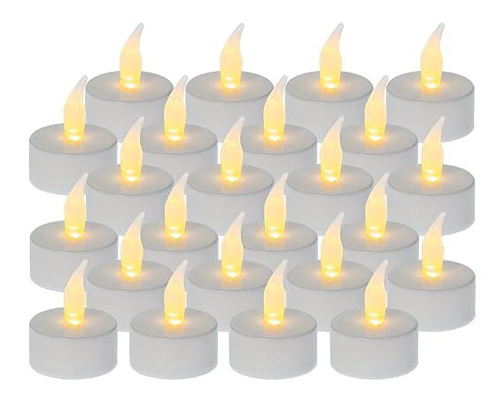 Lumini A Led.Idena 24 Lumini Led In Plastica Bianca 50023