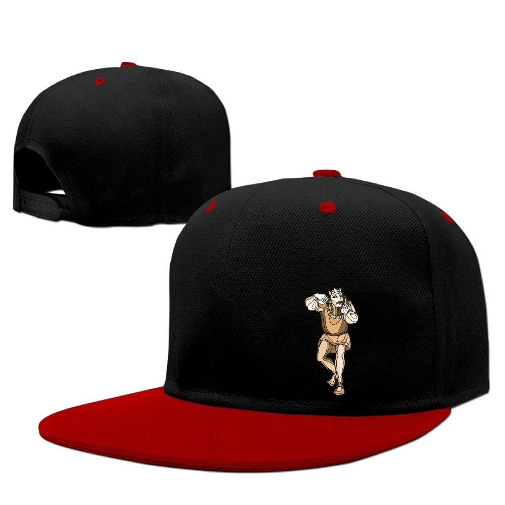 WANGZII ShakespeareKing Funny Snapback Adjustable Hip-Hop Hats Painting Baseball Caps For Men Red