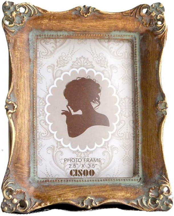"Framestyles Mini Picture Frame Antique Gold Finish 2.5""x3.5"" Wedding Favor"