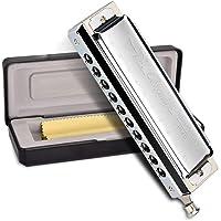 OTraki Chromatische mondharmonica C Dur Blues Harp 10 gaatjes 40 tinten zilveren mondharmonica harmonica met…