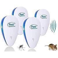 MATEHOM 2021 Nuevo Repelente Ultrasonico de Plagas, Repelente Mosquitos Insectos para Interiores Anti Cucarachas, Moscas…