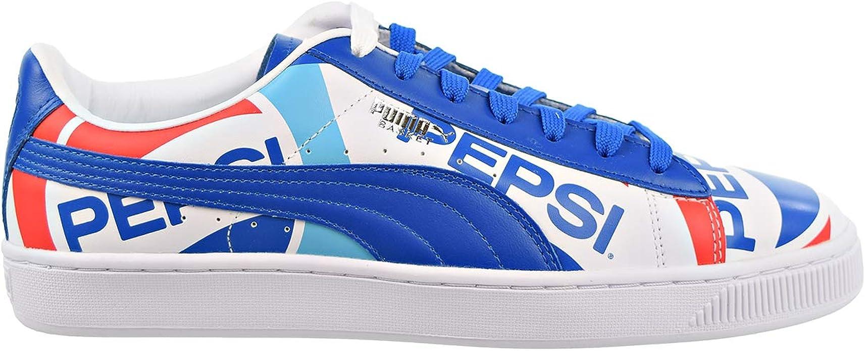 Situación cinta acelerador  Amazon.com | PUMA Mens Basket x Pepsi Casual Sneaker | Fashion Sneakers
