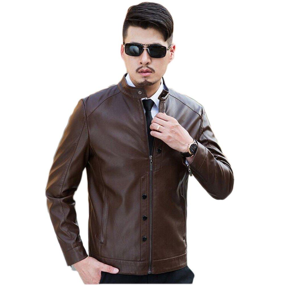 Love Dress Mens Leather Jacket Biker Jacket XXL