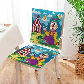 Amazon.com: Miki - Cojín para silla de casa (juego de 2 ...