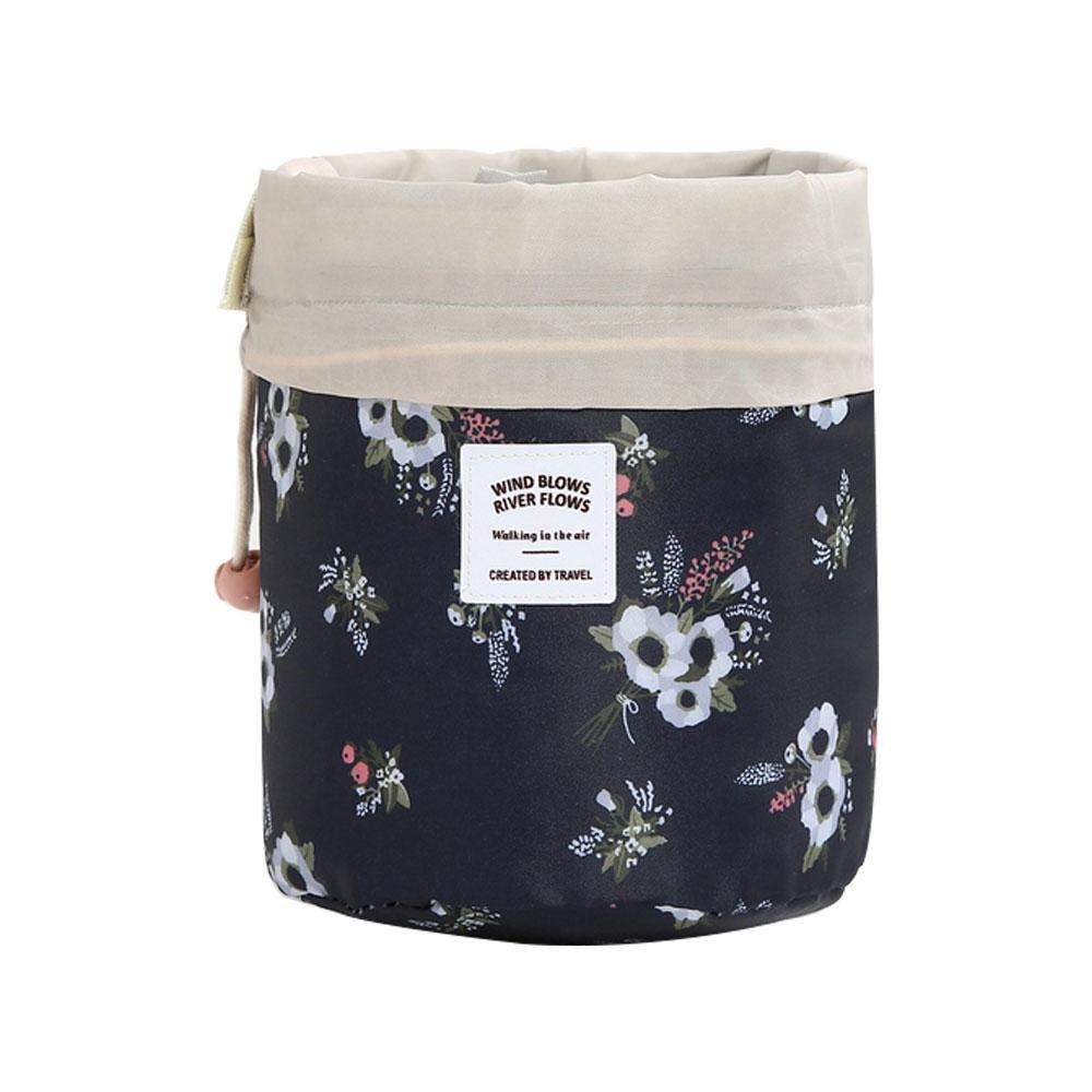 Umiwe trousse da viaggio, trucco impermeabile borsa da viaggio kit organizer Bathroom Storage Cosmetic bag, Carry case da viaggio multifunzionale secchio trousse Blue strips