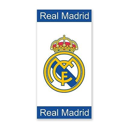 Secaneta RM 03 - Toalla Playa Real Madrid, Blanco