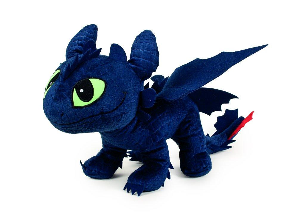 Dragón de peluche de color azul