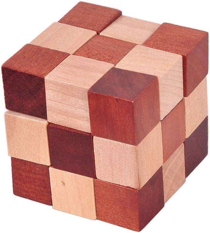 Cumplea/ños Perfecbuty 6PCS 3D Cubo Puzzles de Madera Cl/ásico Educativo Jigsaw IQ Rompecabezas Interbloqueado Juguetes para Ni/ños y Adultos Ejercicio Capacidad,desafiar su Pensamiento Navidad,Regalo