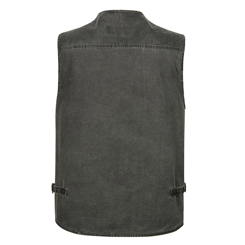 hibote Mens Pockets Jacket Outdoors Travels Sports Vest Tops