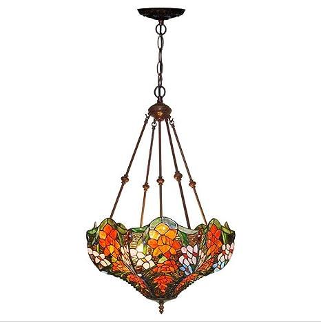 anti-lampadario Tiffany Style, lámpara de techo de cristal ...