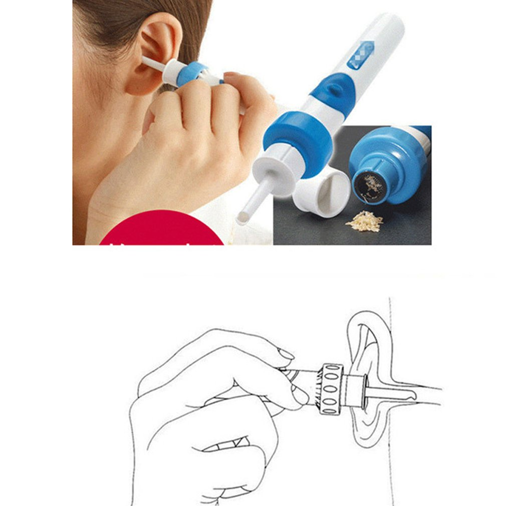junkai Electric Ear Wax Remover Cleaner Kit, Electric Vacuum Ear Cleaner Ear Wax Safe Remover Vibration Removal Cleaning Easy Painless Tool junkai Network technology Ltd