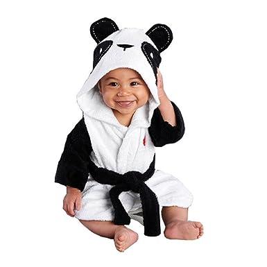 dacc21e0c1f KiKi Monkey Baby Cartoon Animal Bathrobe Sleepwear Tracksuit Pajamas  Sleepwear Hooded Robe (Panda