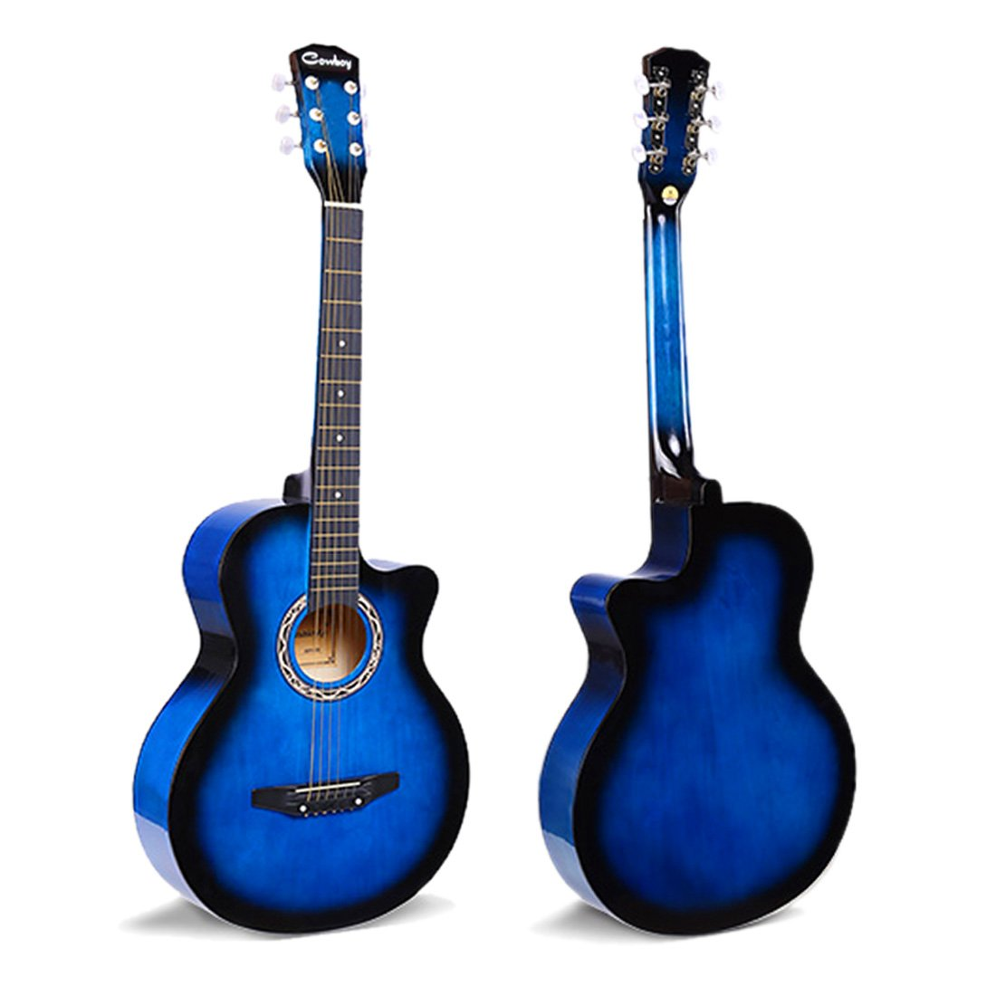 JJOnlineStore - BLUE Acoustic Classic Guitar 3/4 Size 38' For Beginners Student/Adults 6 Strings UK Performance Birthday Christmas Xmas Gift Present (Guitar Only)