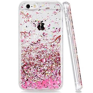 coque rose paillette iphone 6