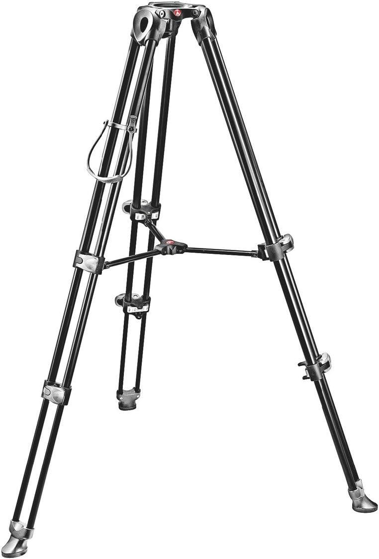 Manfrotto MVT502AM Treppiede Telescopio a Doppio Tubo Nero