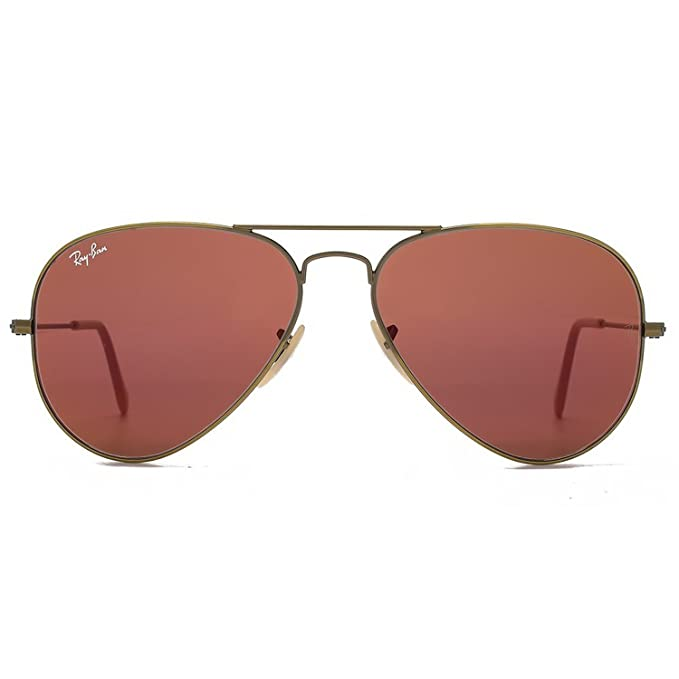 8f4c382f091 Amazon.com  Ray-Ban RB3025 Aviator Sunglasses Brushed Bronze w Red Mirror ( 167 2K) 3025 58mm Authentic  Clothing