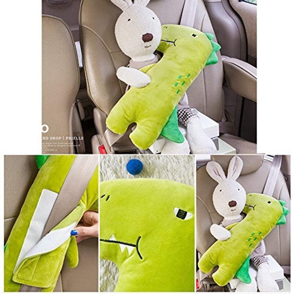 Rosa Child Kid Car Vehicle Seat Belt Harness Shoulder Pad Cover Cushion Head Support Almohadillas Protectores de Coche Hombro 4 Pcs Almohadillas para Cintur/ón de Seguridad