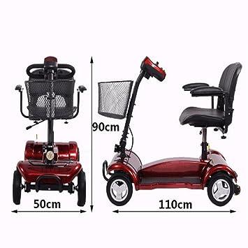 Cww Silla De Ruedas Eléctrica para Los Ancianos Discapacitados Cinturón Plegable Paseo El Scooter De Edad Avanzada: Amazon.es: Deportes y aire libre