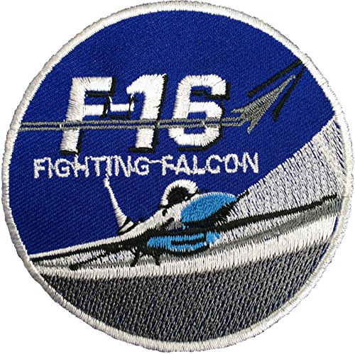 [F16 FIGHTING FALCON size 7.5cm US Navy Fighter Pilot Military Band Logo Jacket Vest shirt hat blanket backpack T shirt Patches Embroidered Appliques Symbol Badge Cloth Sign Costume] (Danger Mouse Halloween Costume)