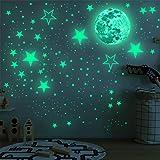 TOYANDONA Adesivos de parede com estrelas que brilham no escuro para decoração de teto de parede para quarto de crianças