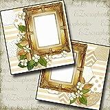 WEDDING - FOUR - Premade Scrapbook Pages - EZ Layout 660