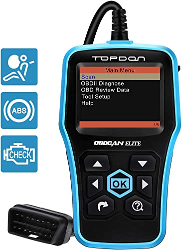 The Topdon Elite ABS/SRS OBD2 Scanner will allow you to diagnose MIL, ABS, and SRS.