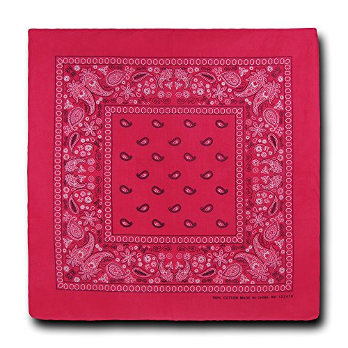 kaiser-collection-double-sided-paisley-bandanas-1-dozen-hot-pink