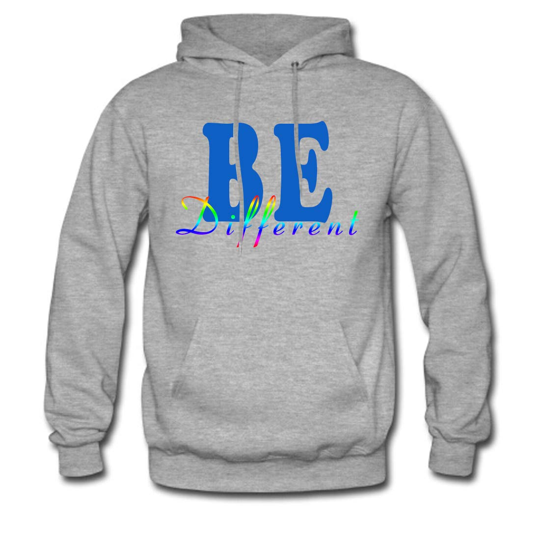 Mens Classic Pullover Hoodie Sweatshirt,Be Different Print