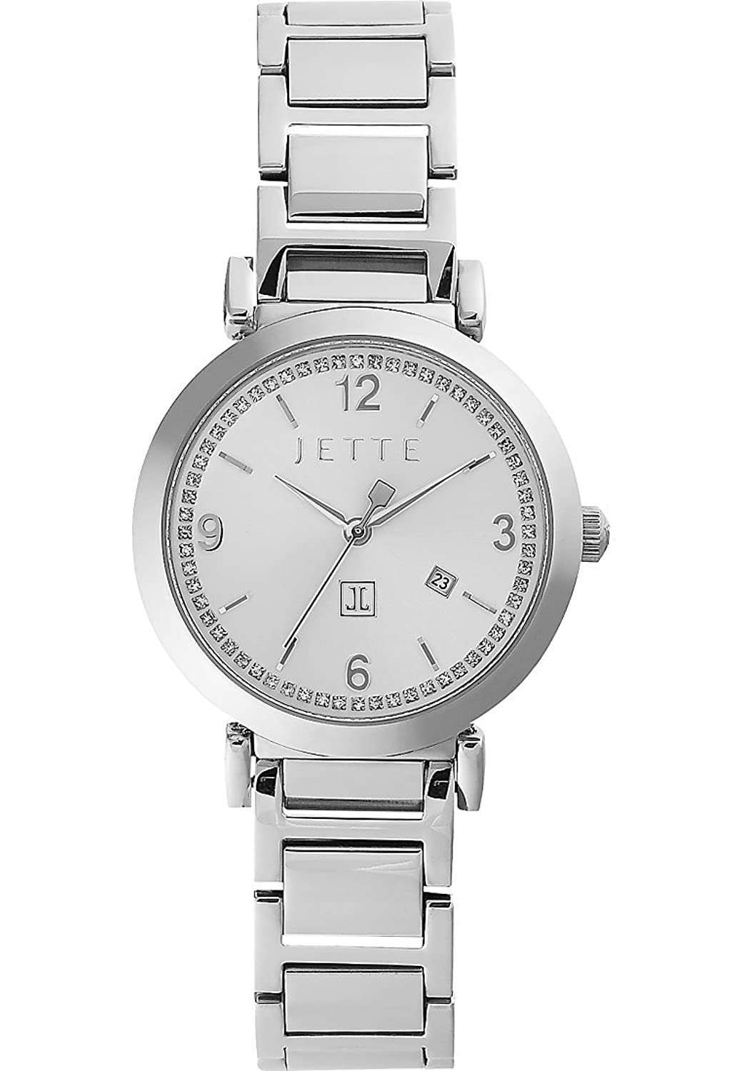 JETTE Time Damen-Armbanduhr DIVA Analog Quarz (One Size - silberfarben)
