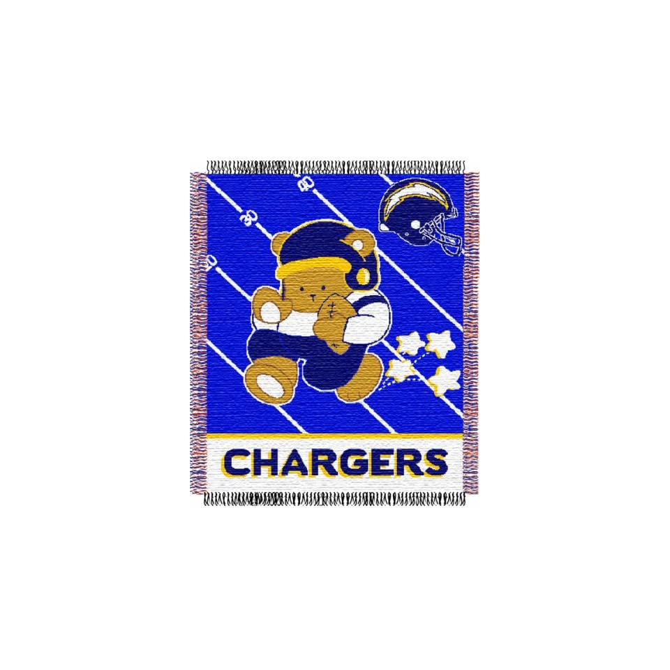 San Diego Chargers NFL Triple Woven Jacquard Throw (Baby Series) (36x46)