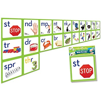 Junior Learning Blends Wall Border Educational Action Games