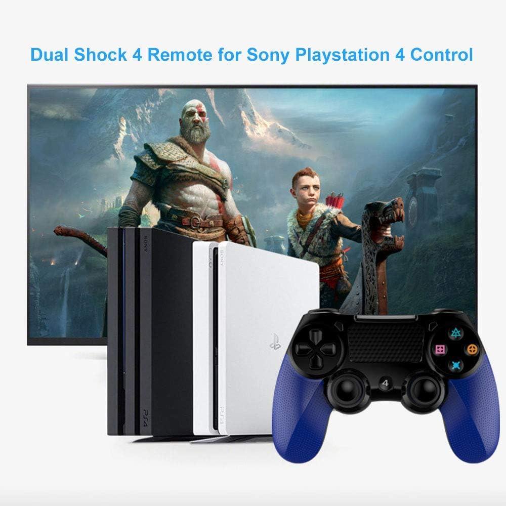 YIKUI Mandos inalámbrico para PS4, Joystick Dual Shock 4 para Sony Playstation 4 (con Conector para Auriculares de 3,5 mm y Panel táctil multitáctil) Compatible con PS4 / PS4 Pro / PS4