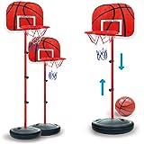 TXXCI 63-150cm 4 Sezioni Altezza Regolabile Canestro da basket regolabile posteriore con cerchio per bambini