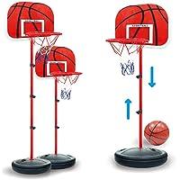 TXXCI 63-150Cm Hauteur réglable Portable Panneau de Basket Panier de basket pour Enfants